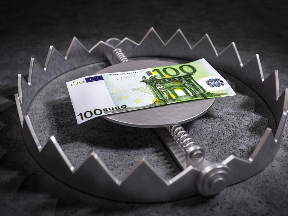 Geldverlust Bärenfalle Risiko