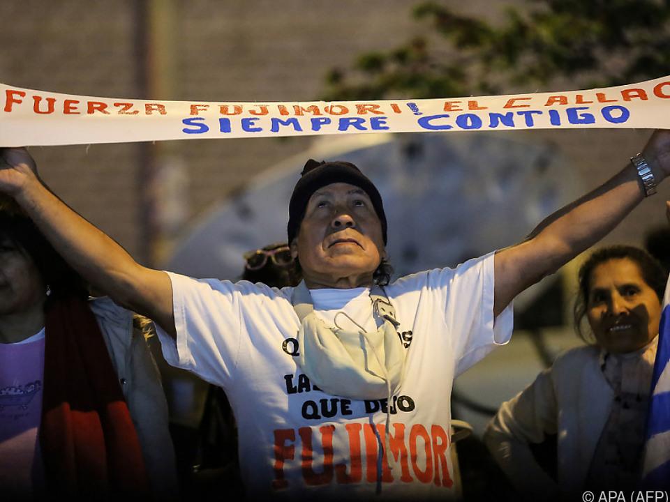 Fujimori hat nach wie vor viele Unterstützer