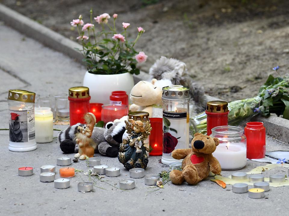 Gedenken an das getötete Mädchen