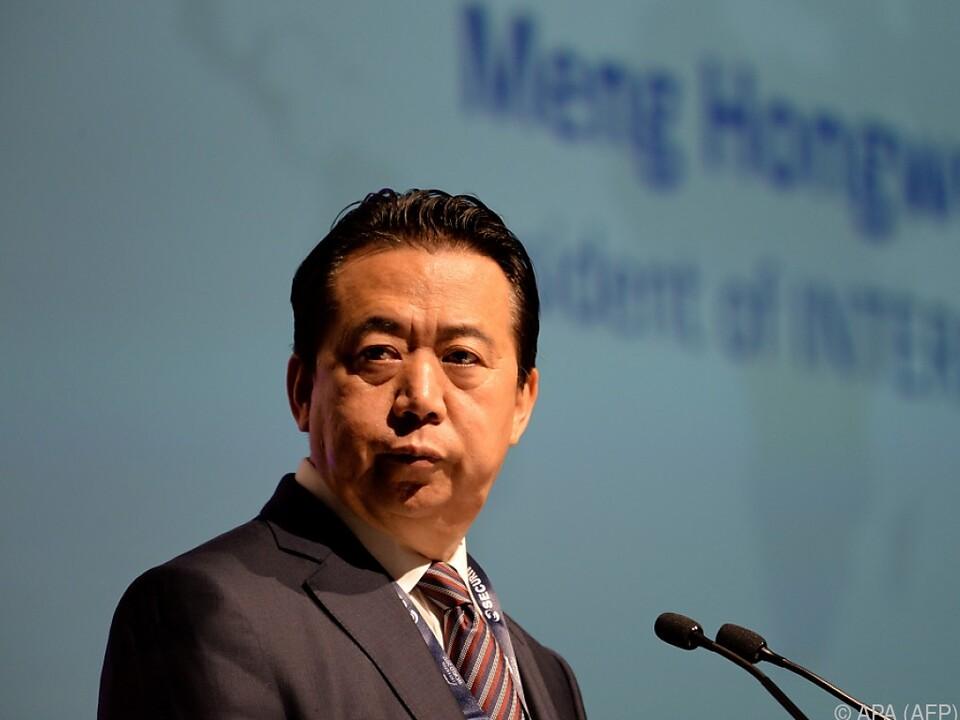Gegen Meng wurden Korruptionsvorwürfe laut