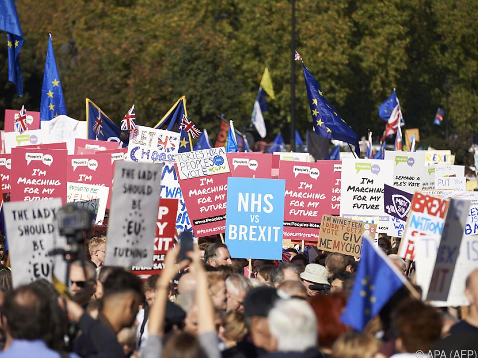 Hunderttausende forderten in London eine zweites Brexit-Referendum