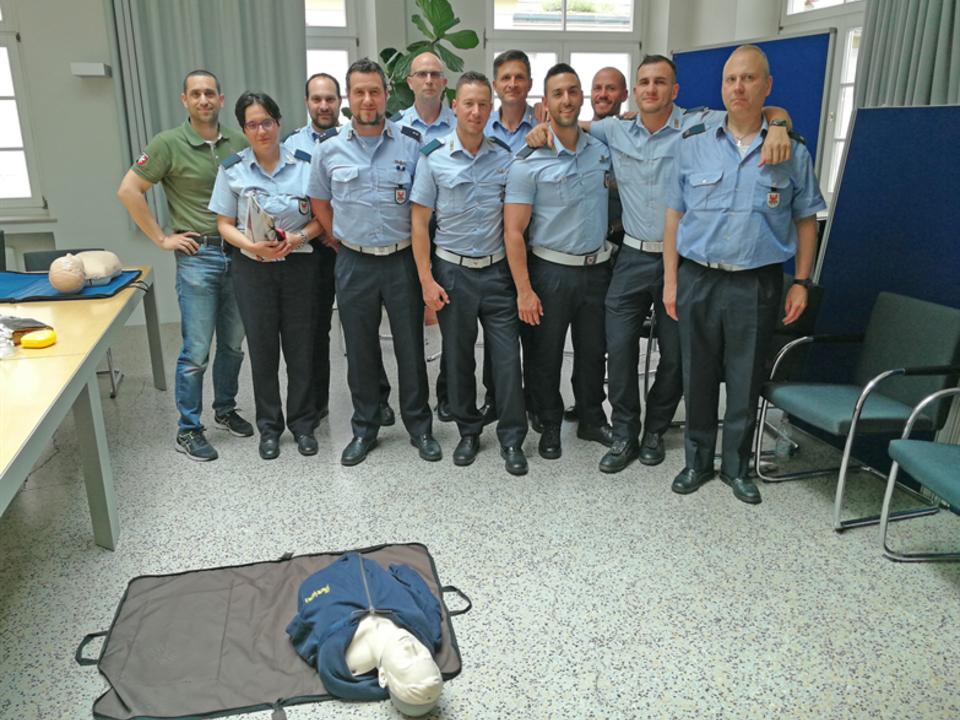 Ortspolizei Meran Defibrillator