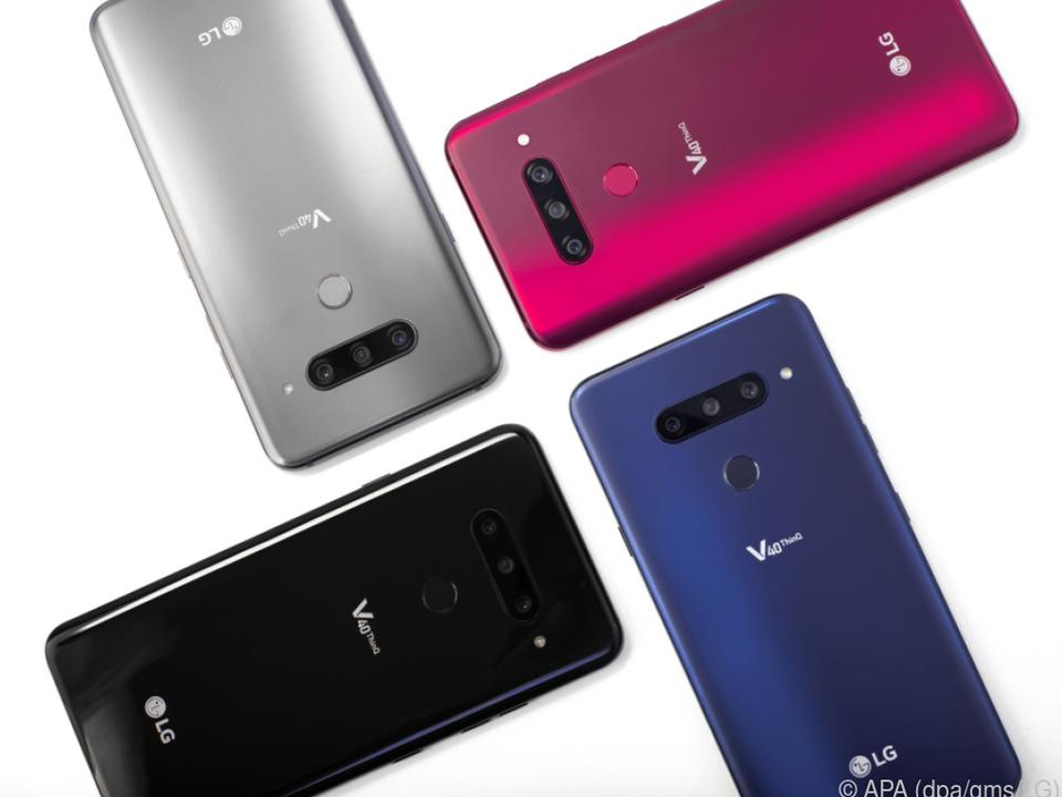 In diesen vier Farben wird das LG V40 Thinq zu haben sein