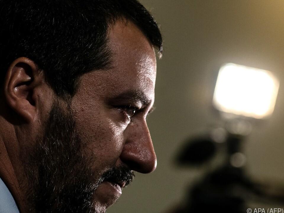Innenminister Salvini zeigte sich über Einigung erfreut