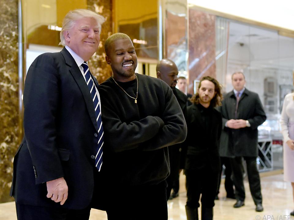Kanye West ist ein großer Fan von US-Präsident Trump