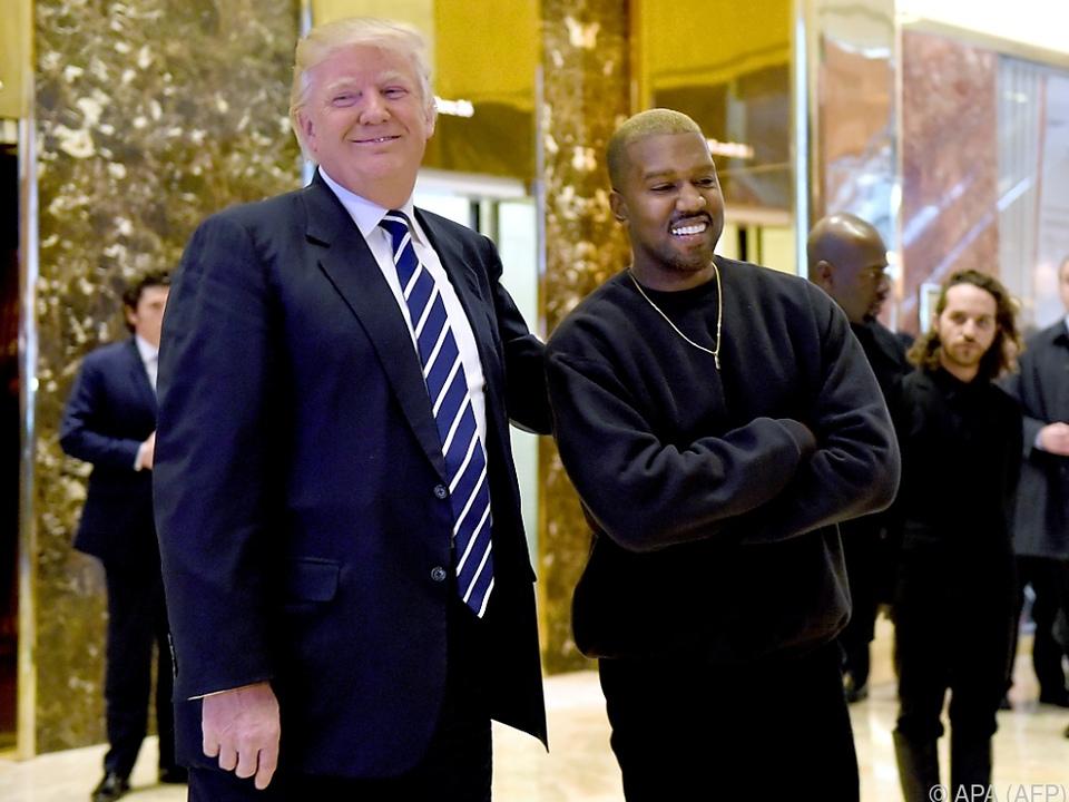 Kanye West versteht sich gut mit US-Präsident Trump