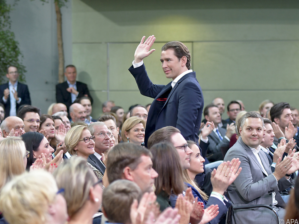 Kanzler Kurz im Rahmen der ÖVP-Tagung