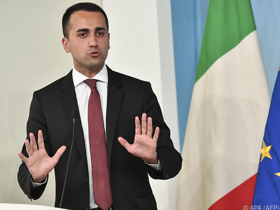 Laut Di Maio gibt es jetzt kein Zurück mehr