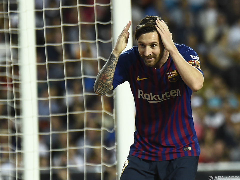 Lionel Messi traf auch in Valencia