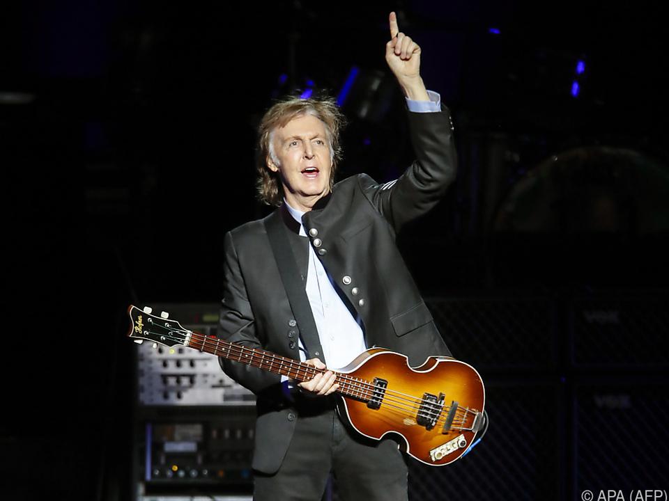 McCartney ist gerade auf Tour