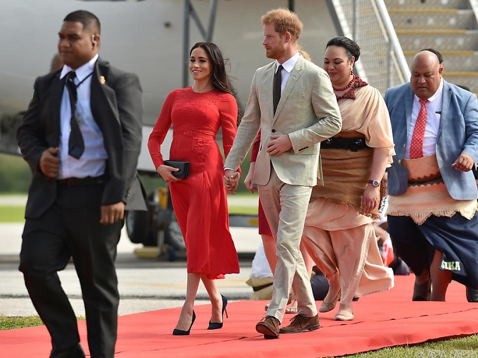 Meghan und Harry besuchten das Insel-Königreich Tonga