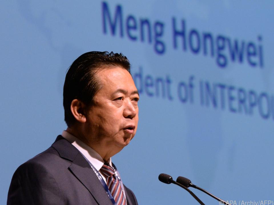 Meng Hongwei war Ende September nach China gereist