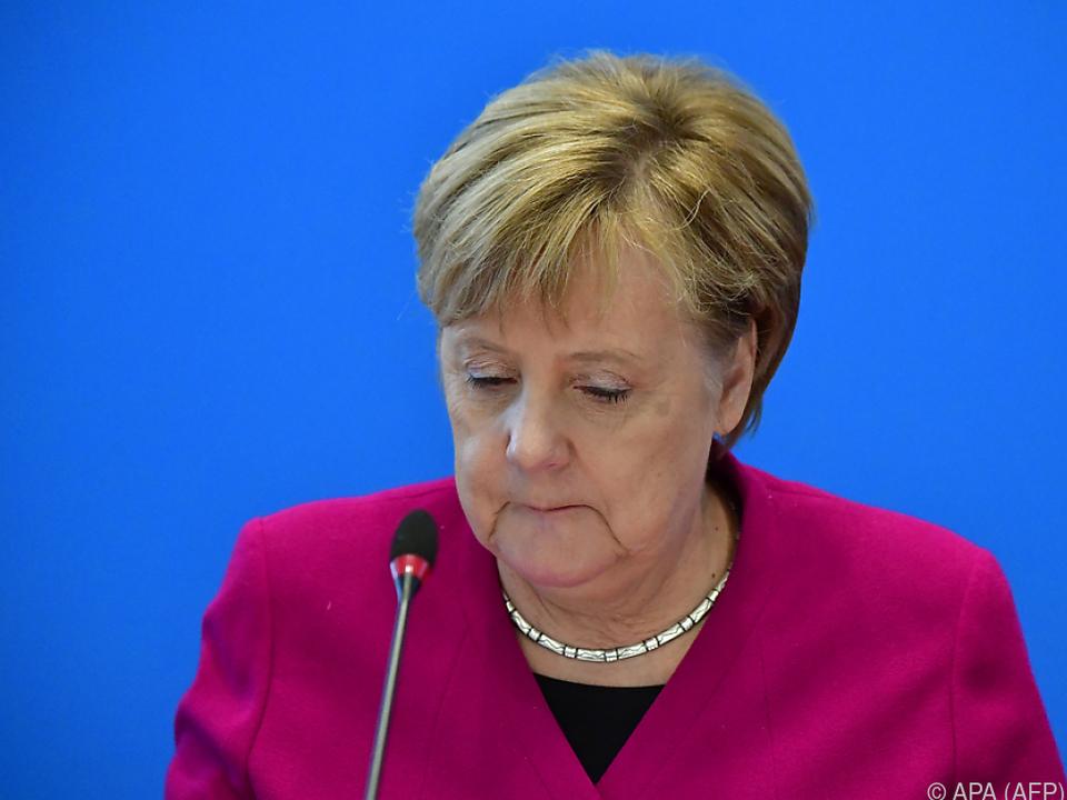 Merkel zieht die Konsequenzen