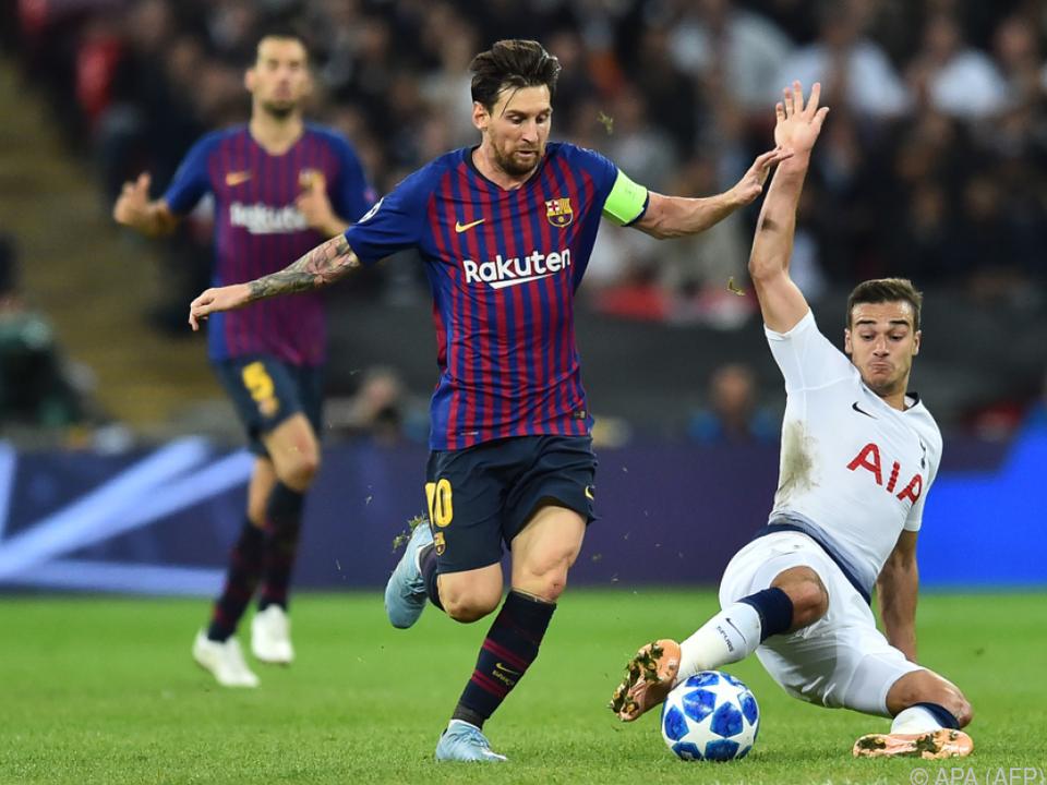 Messi führte Barcelona in Champions League zu 4:2 bei Tottenham