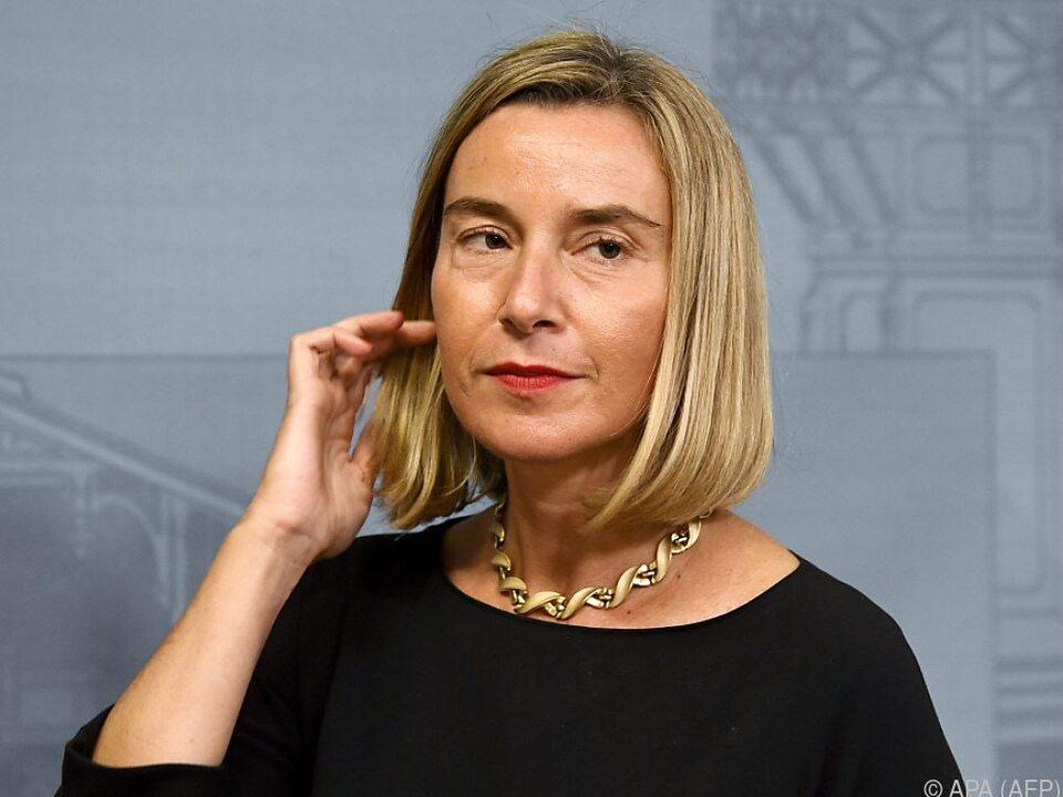 Mogherini sprach u.a. über die EU-Annäherung zum Westbalkan