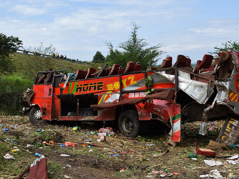 Nur zwei Passagiere überlebten das Unglück