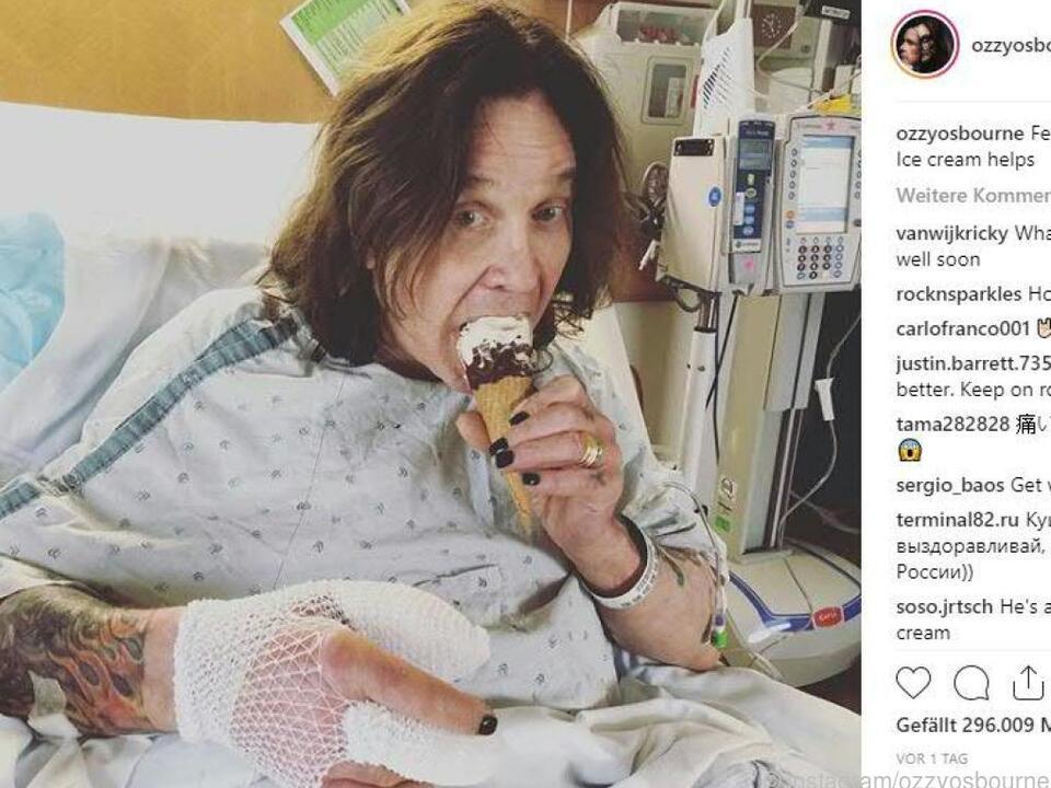 Osbourne zeigt sich auf Instagram erholt