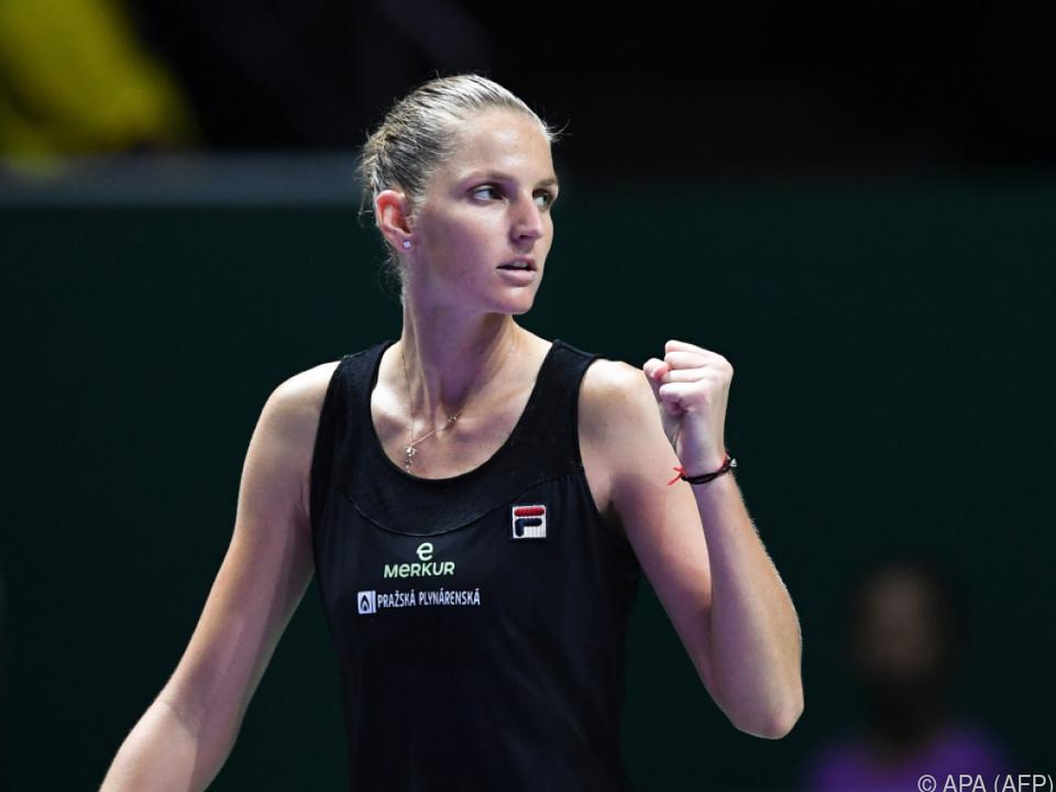 Pliskova steht als erste im Halbfinale