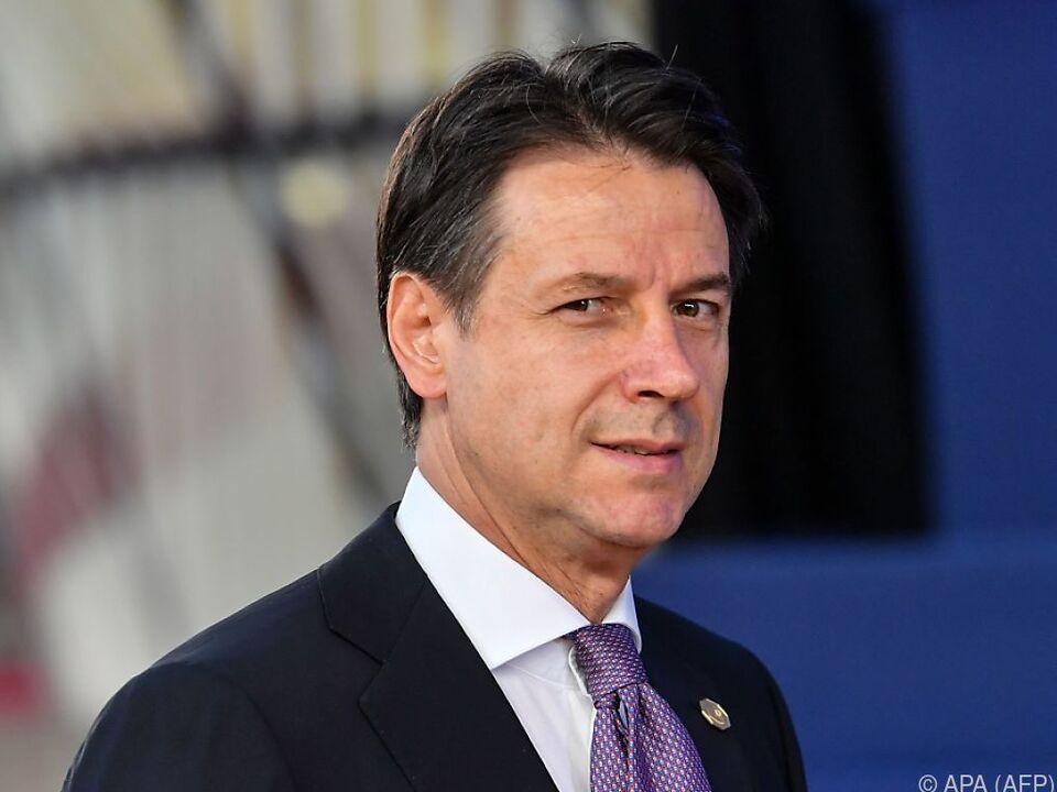 Premierminister Giuseppe Conte will Dialog mit EU-Kommission