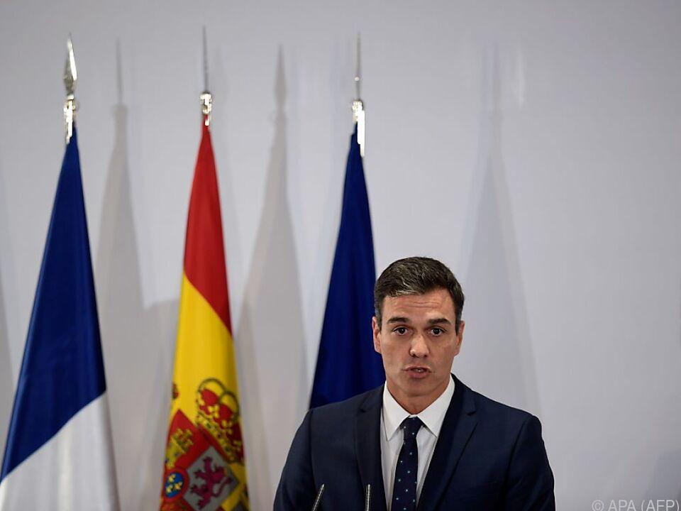 Sanchez warnte die separatistische Regierung Kataloniens per Twitter