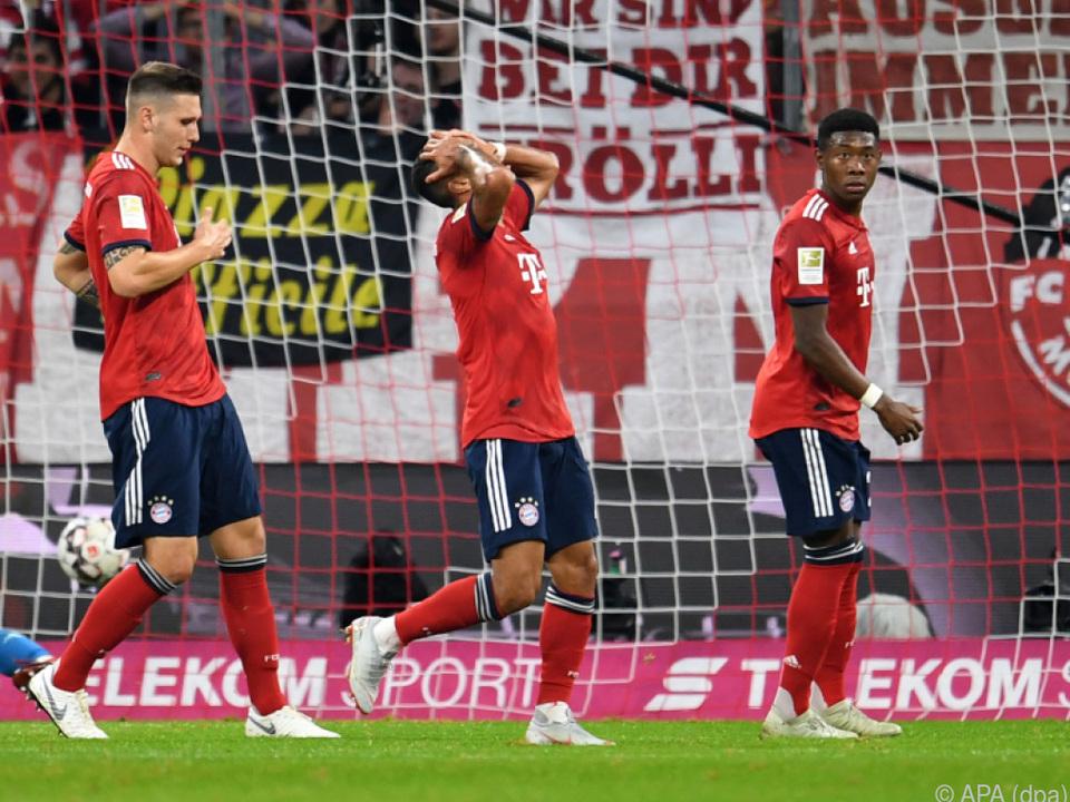 Schock und Verzweiflung bei den Bayern-Spielern