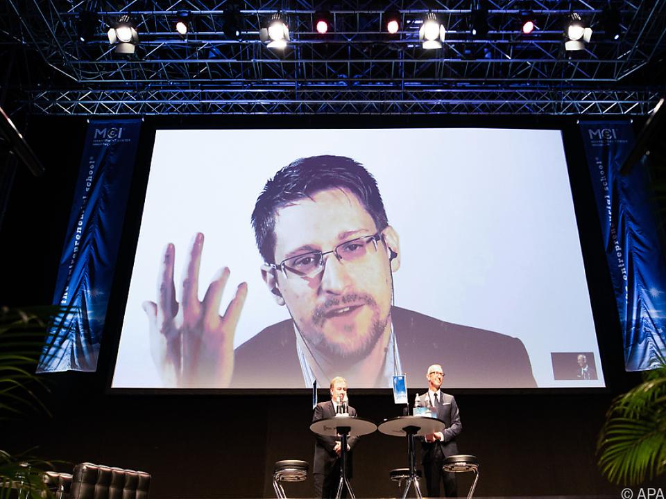 Snowden war per Video zugeschaltet