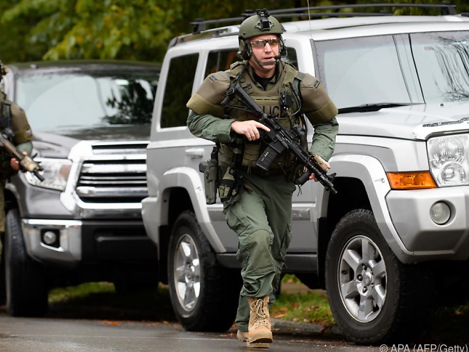 Spezialkräfte der Polizei waren im Einsatz