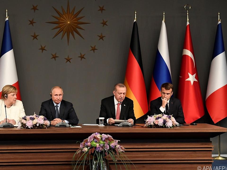 Türkischer Präsident Erdogan verlas die Abschlusserklärung