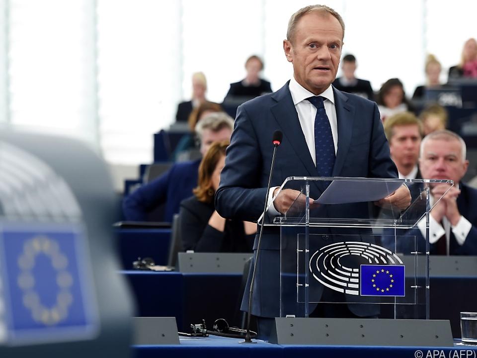Tusk berichtete u.a. über die Brexit-Verhandlungen