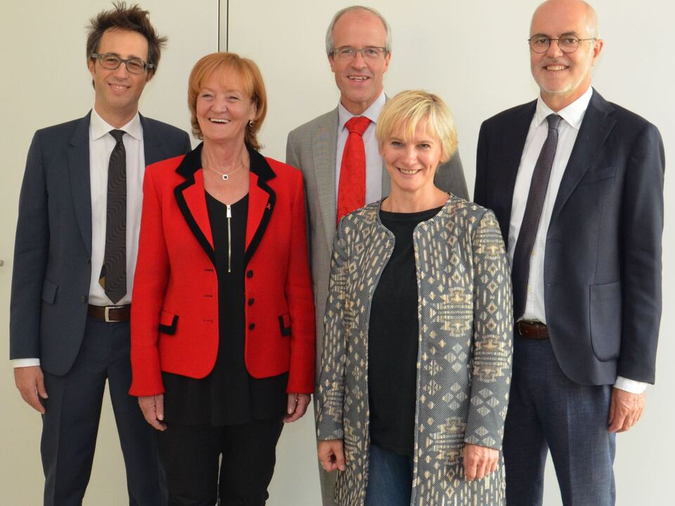 (v.l.) Andrea Zeppa, Martha Stocker, Florian Zerzer, Marianne Siller, Thomas Lanthaler