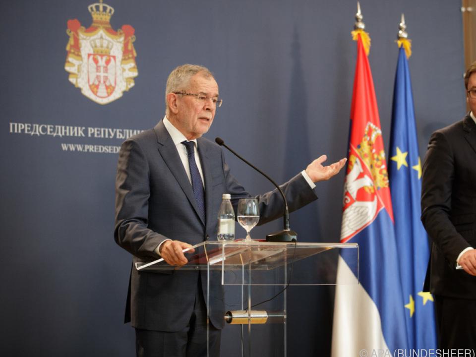 Van der Bellen traf auch Serbiens Präsident Vucic