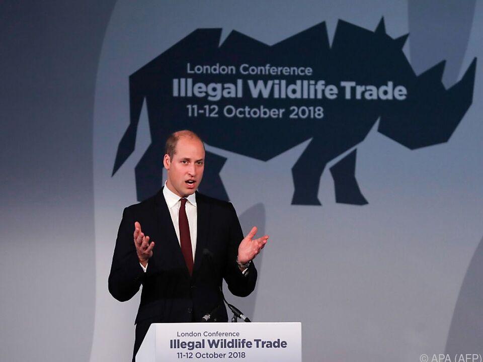 William macht auf die Folgen des Handels mit Wildtieren aufmerksam