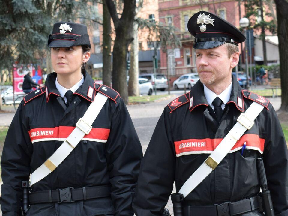 carabinieri di quartiere impegnati nel controllo territorio Bozen