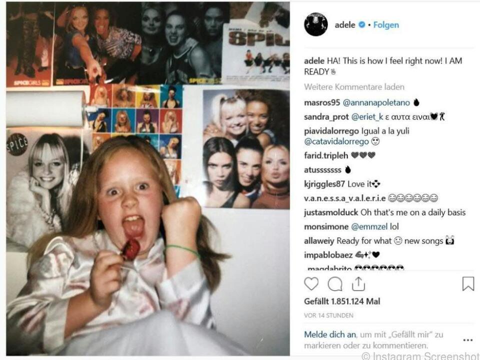 Adele - von klein an ein Spice-Girls-Fan