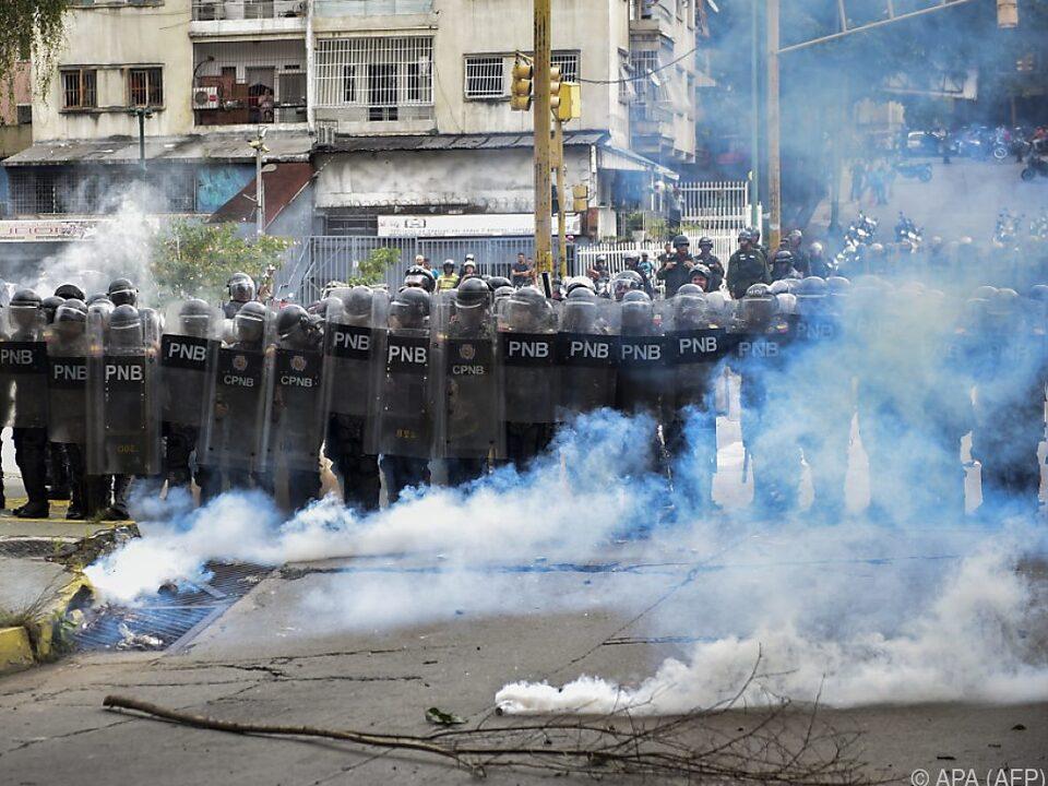 Anhaltende Proteste in Caracas