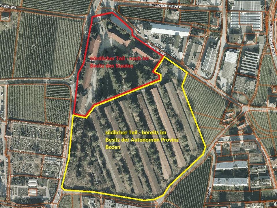 Areal_Eppan, Areal der ehemaligen Mercanti-Kaserne