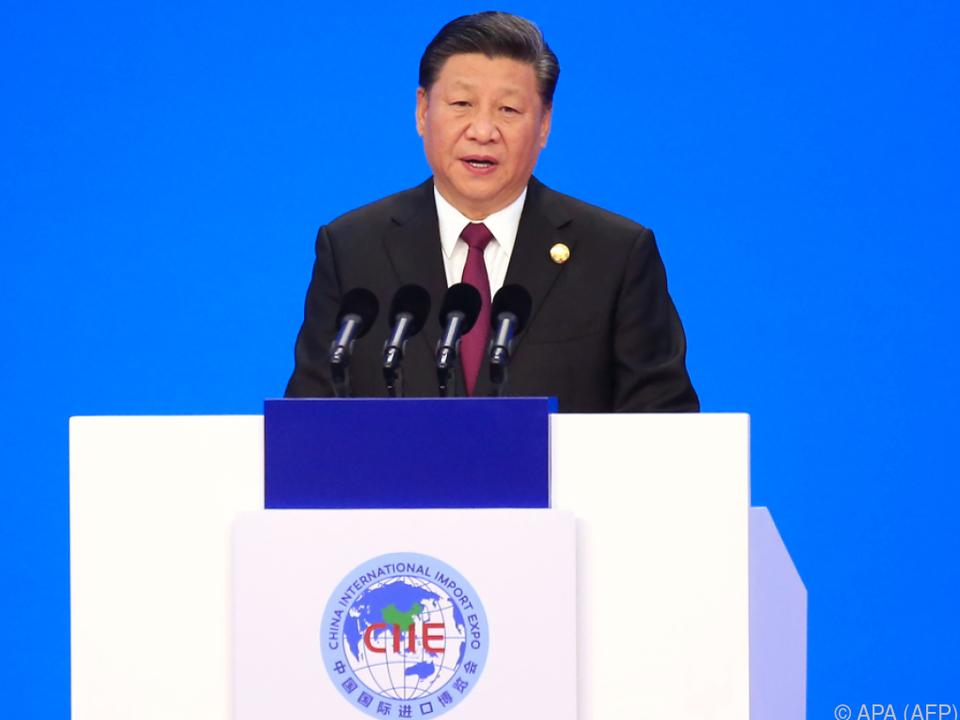 Auf den Handelskrieg mit den USA ging Xi nicht ein