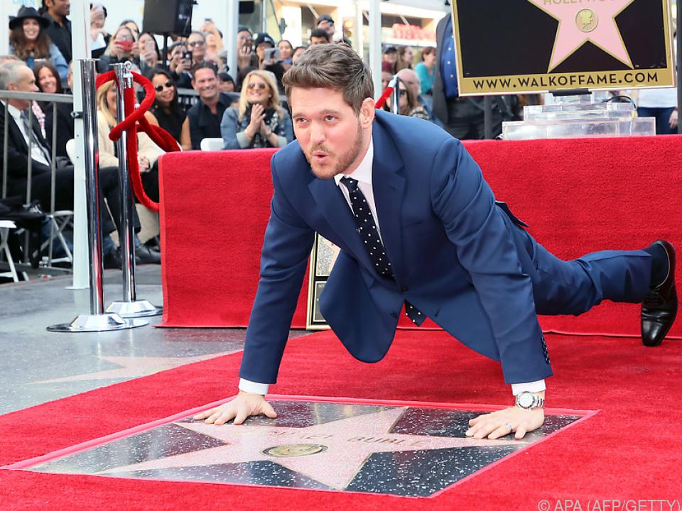 Bublie erhielt einen symbolträchtigen Stern in Hollywood
