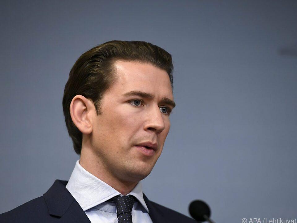 Bundeskanzler Kurz (ÖVP) ist nicht erfreut