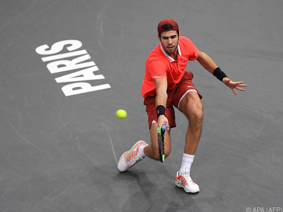 Chatschanow ließ Novak Djokovic keine Chance