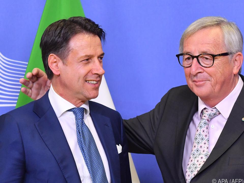 Conte betonte seine Freundschaft mit Juncker