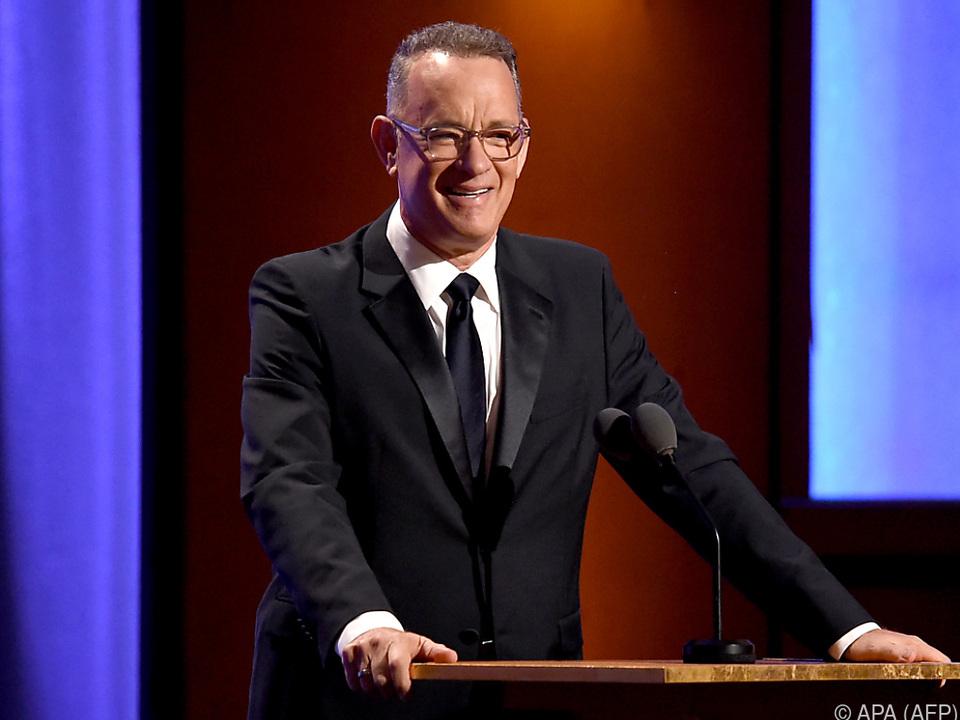 Das Filmteam verhandelt mit Tom Hanks