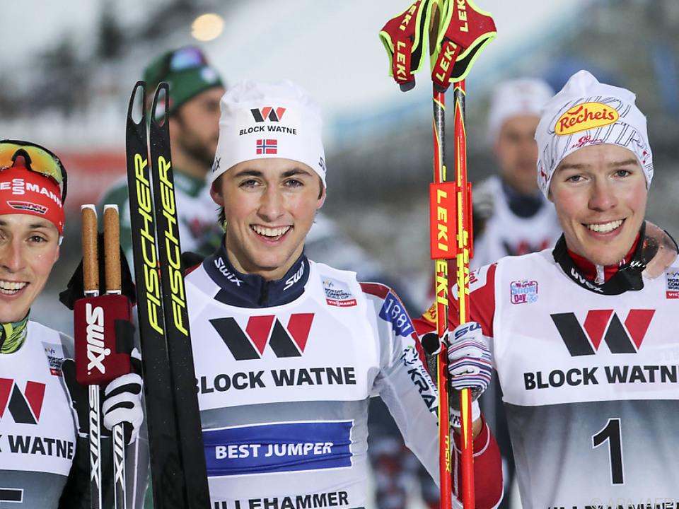 Das Podium von Lillehammer