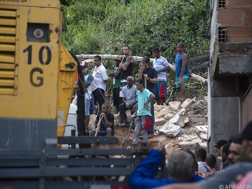 Das Unglück ereignete sich am Hang eines Berges in Niteroi