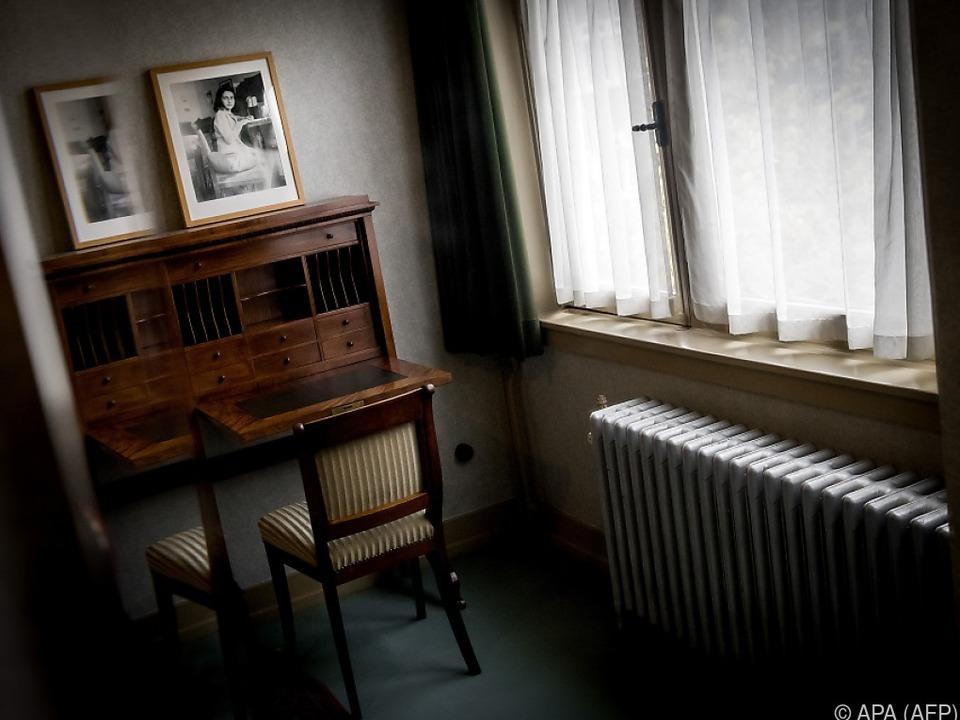 Das Zimmer von Anne Frank in Amsterdam