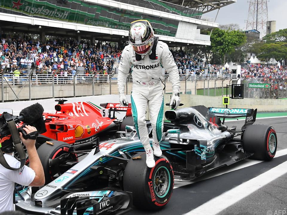 Der britische Mercedes-Pilot startet einmal mehr vom ersten Startplatz