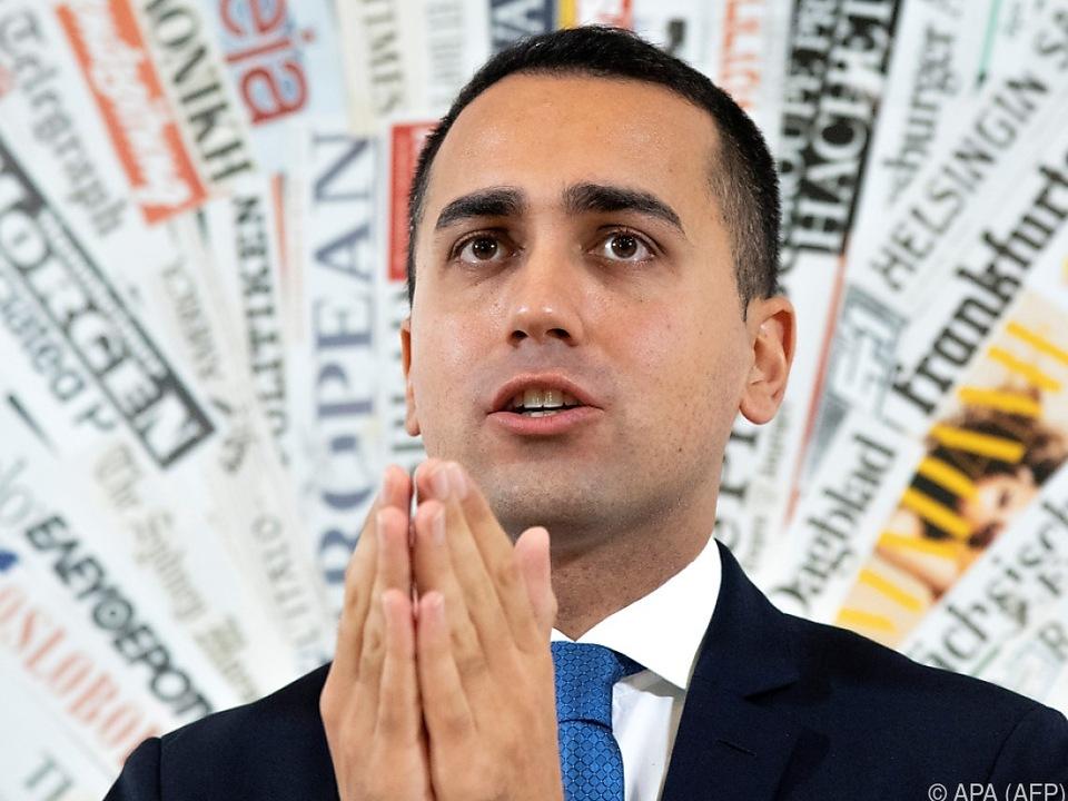 Der Budgetplan bleibe unverändert, kündigte Di Maio an
