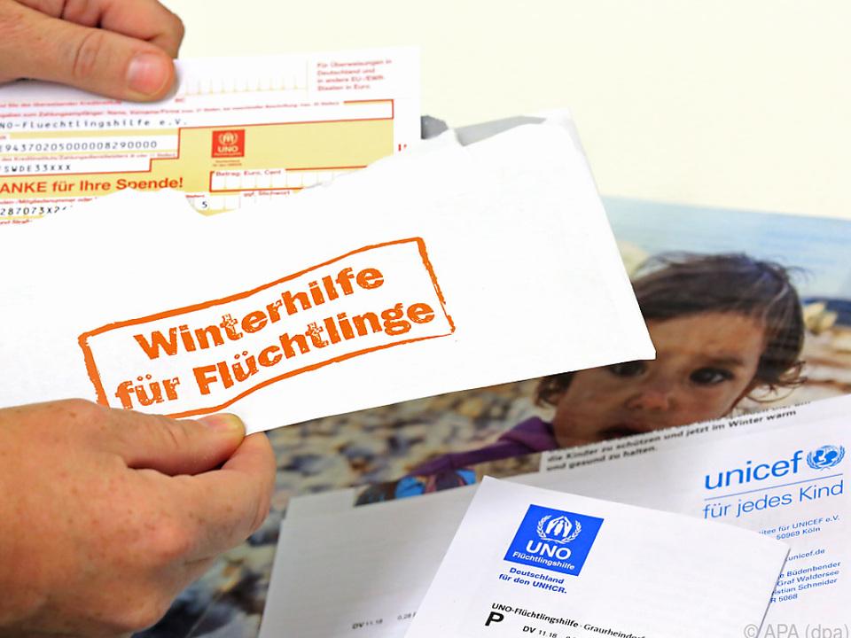 Der Durchschnitt liegt in Österreich bei 113 Euro pro Spender
