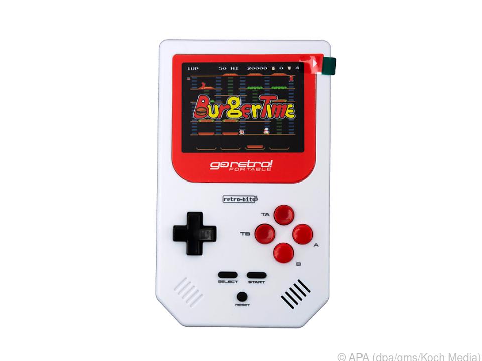 Der Go Retro! Portable sieht aus wie ein Gameboy