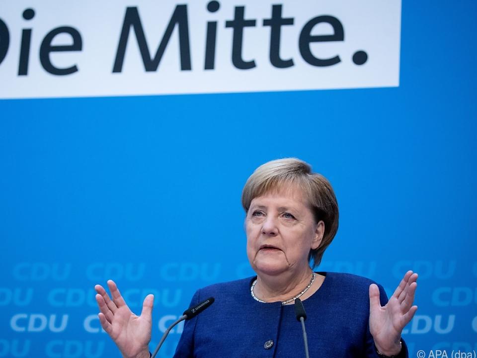 Die deutsche Kanzlerin beschwichtigt die SPD
